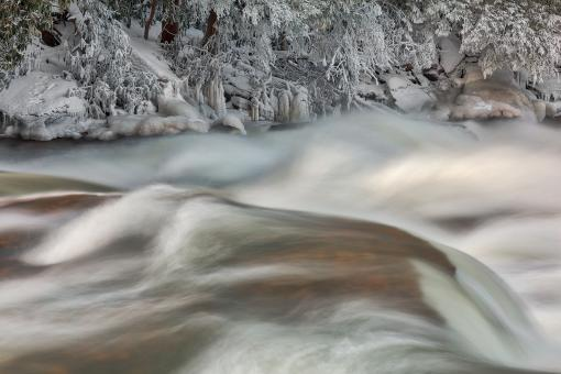 Free Stock Photo of Shimmering Winter Stream - Swallow Falls