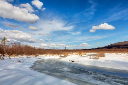 Free Stock Photo of Blackwater Winter River