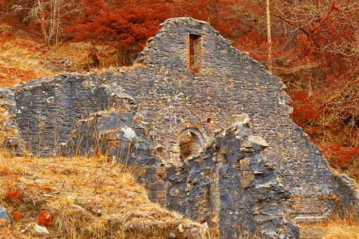 Free Stock Photo of Hafna Mining Ruins - Autumn Fantasy