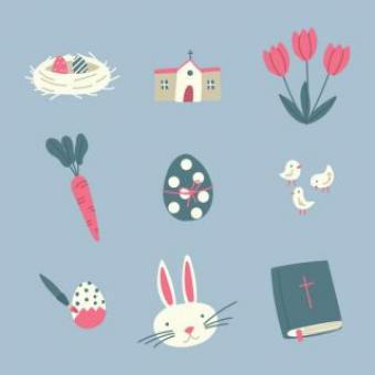 Free Stock Photo of Cute Easter Icons