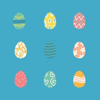Free Stock Photo of Easter Eggs Set