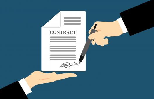 Free Stock Photo of Contract Signature Illustration