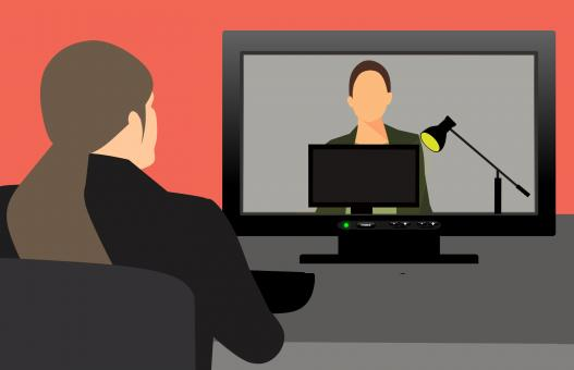 Free Stock Photo of Video Conference Illustration