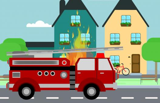 Free Stock Photo of Fire Truck Illustration