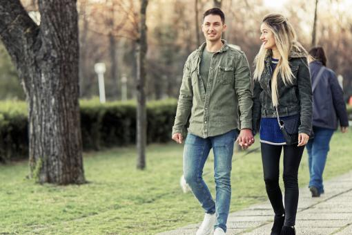 Free Stock Photo of Young couple on a Walk