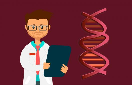 Free Stock Photo of DNA Test Illustration