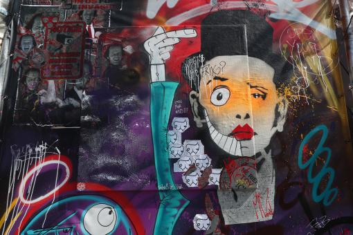 Free Stock Photo of Abstract street art graffiti