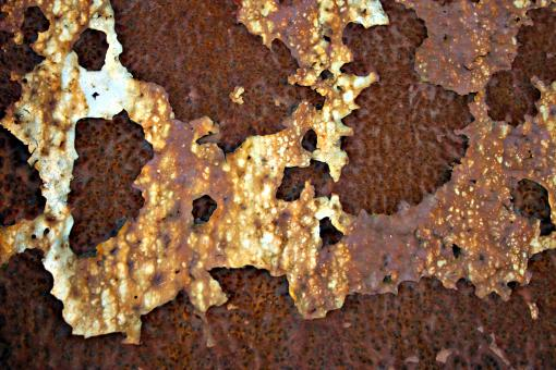 Free Stock Photo of Rusted Metal and Peeling Paint