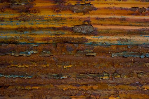 Free Stock Photo of Rusted Corrugated Steel
