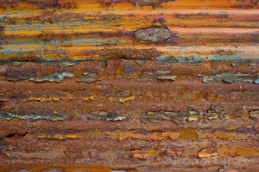 Free Stock Photo of Corrugated Rusted Metal