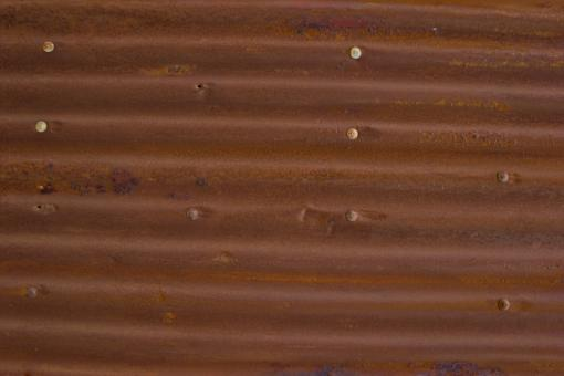 Free Stock Photo of Rusty Corrugated Metal