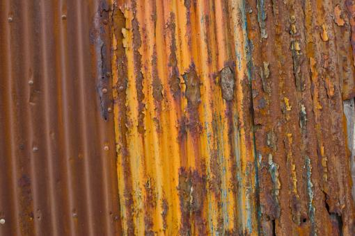 Free Stock Photo of Grunge Rusted Corrugated Metal