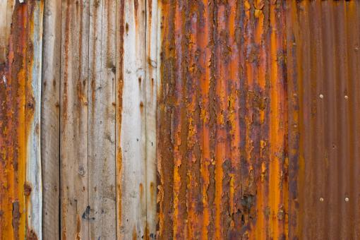 Free Stock Photo of Rust on Corrugated Metal