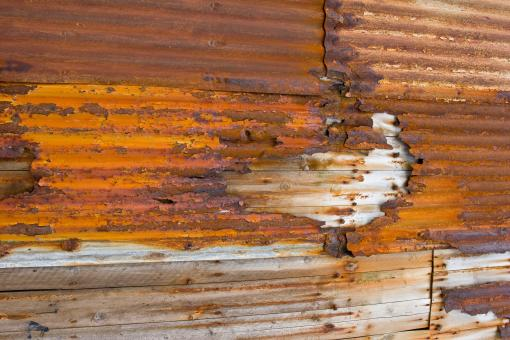 Free Stock Photo of Corroded Corrugated Metal