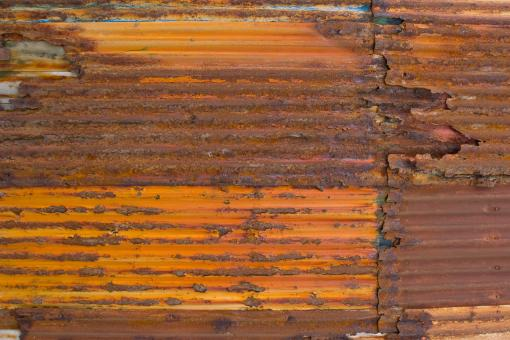Free Stock Photo of Old and Rusted Corrugated Metal