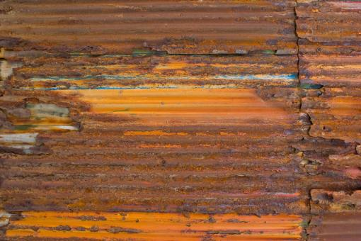 Free Stock Photo of Corrugated and Corroded Metal