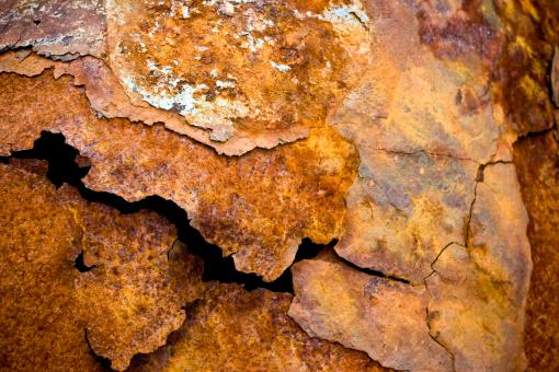 Free Stock Photo of Corrosion of Torn Metal