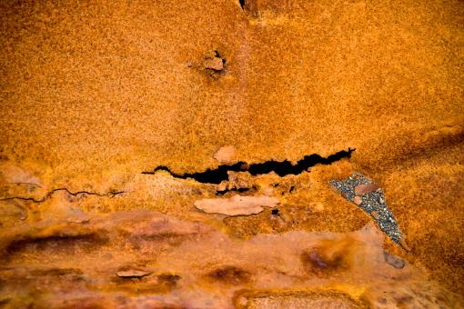 Free Stock Photo of Torn and Rusted Metal