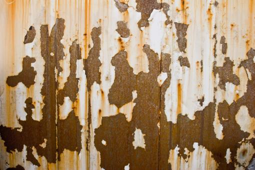 Free Stock Photo of Peeling Corrugated Metal