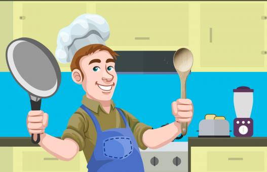 Free Stock Photo of Man Cooking