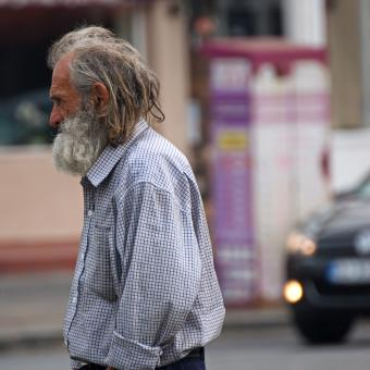 Free Stock Photo of Homeless man