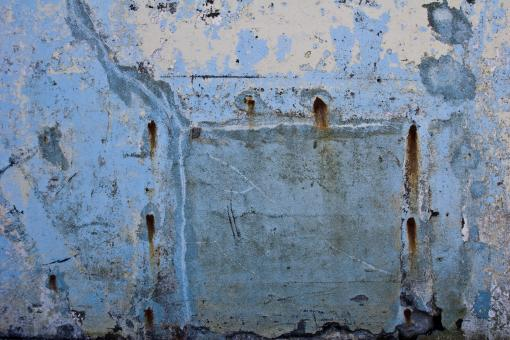 Free Stock Photo of Grunge Blue Wall Surface