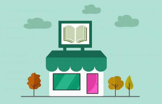Free Stock Photo of Book Shop Illustration