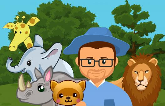 Free Stock Photo of Zoo Keeper Illustration