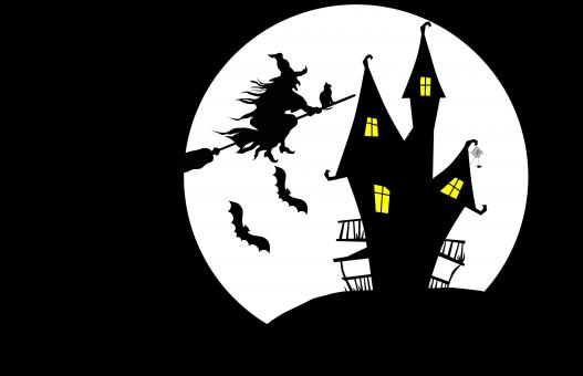 Free Stock Photo of Witch House Illustration
