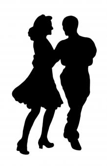 Free Stock Photo of Couple Dancing Silhouette