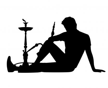 Free Stock Photo of Shisha Silhouette