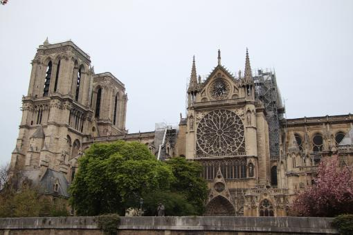 Free Stock Photo of Poor, topless, Notre-Dame of Paris