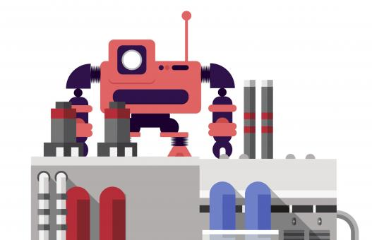 Free Stock Photo of Factory Robot Illustration