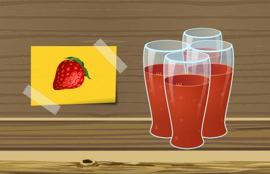 Free Stock Photo of Strawberry Juice Illustration