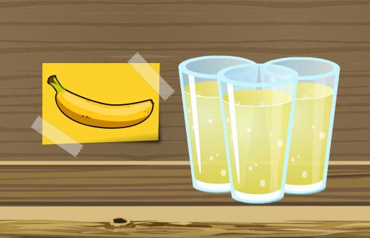 Free Stock Photo of Banana Juice Illustration