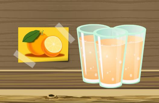 Free Stock Photo of Orange Juice Illustration