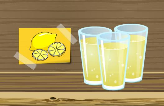 Free Stock Photo of Lemon Juice Illustration