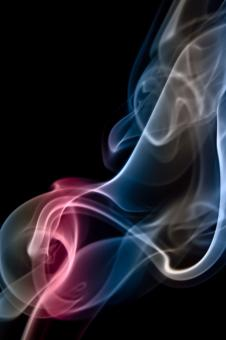 Free Stock Photo of Pink and Blue Abstract Smoke