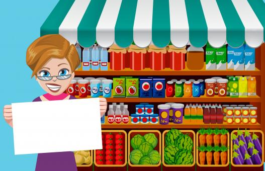 Free Stock Photo of Grocery Promotion Illustration