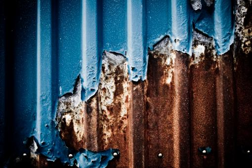 Free Stock Photo of Dark Blue Rust on Metal