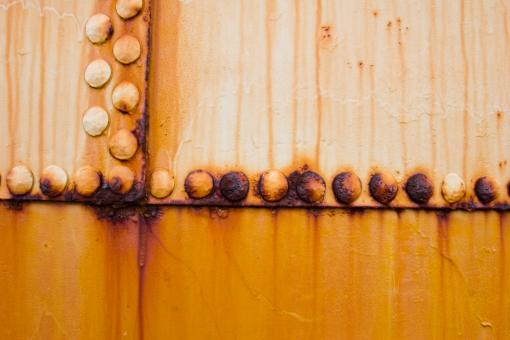 Free Stock Photo of Rusty Metal Rivets