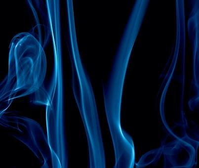 Free Stock Photo of Wavy Blue Smoke on Black
