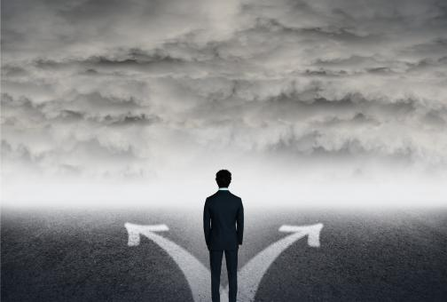 Free Stock Photo of Which Way to Go - Life Choices - Man Facing Choices