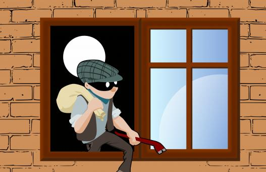 Free Stock Photo of House Thief Illustration