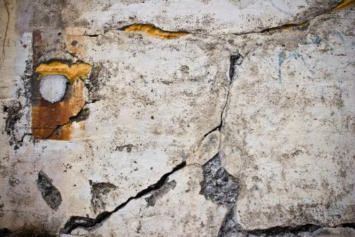 Free Stock Photo of Cracked Stone Dirty Wall