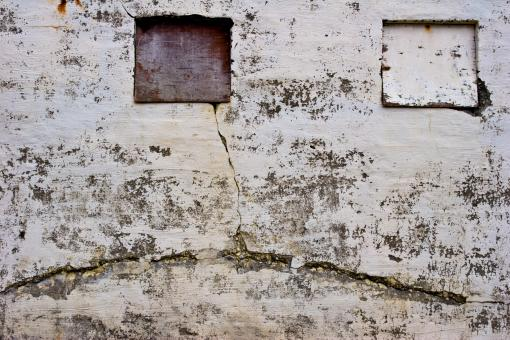 Free Stock Photo of Cracked Grungy Stone Wall