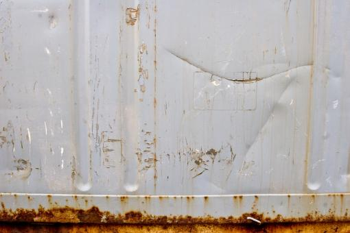Free Stock Photo of White Rusted Metal Surface