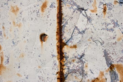 Free Stock Photo of Rusted Torn Metal Texture