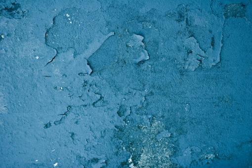 Free Stock Photo of Chipped Blue Wall Surface