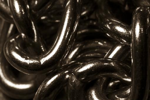 Free Stock Photo of Closeup of Silver Chains